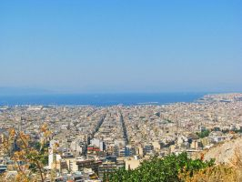 Athens View by Meljona