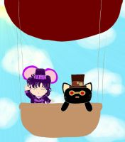 Cat and Mouse in a Balloon by playfulkitty828