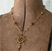 Brown and Gold Necklace by ElegantlyEccentric