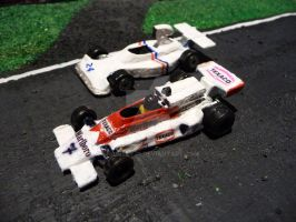 Two cars of James Hunt by engineerJR