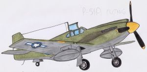 North American P-51A Mustang by DingoPatagonico