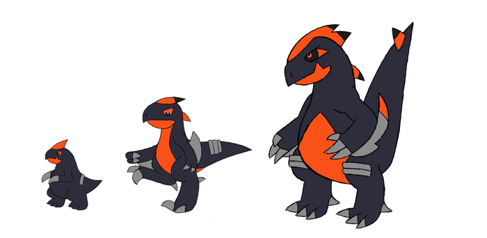 Shiny Lizword, Murdagger, and Repterror by Cameronwink