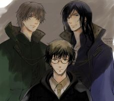 Harry,Remus,Sirius by chirokko