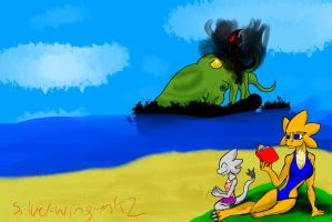 Family time on the beach by silver-wing-mk2