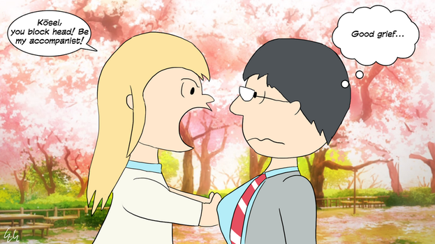 Your Lie in April - Peanuts Style by EGStudios93
