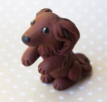Dachshund dog sculpture commission by SculptedPups