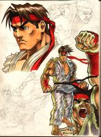 PURE OCTANE: RYU SKETCHES by bonesdeviant