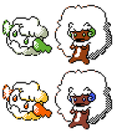 Cottonee Whimsicott GSC Sprites by Axel-Comics