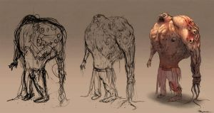 Zombie Concept process by Ranoartwork