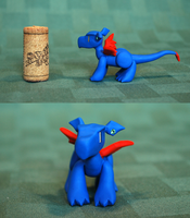 Blue Standing Dragon Bonus Shots by HowManyDragons