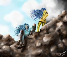 Geminis on the cliff by Seveya