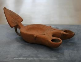 stock roman oil lamp clay by Nexu4