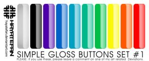 Glossy Button Set No. 1 by jhasson