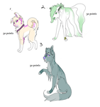 Adoptable batch 1 by SpiritedStar