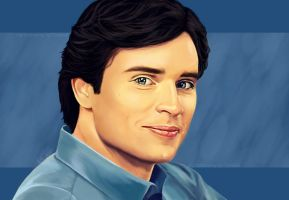 Clark Kent smiling by TomsGG