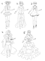 Outfit set 9: dresses and skirts by Kohane-chan