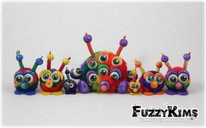 Polymer Clay Monsters by KIMMIESCLAYKREATIONS