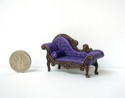 Victorian Gothic Chaise Lounge by clevella