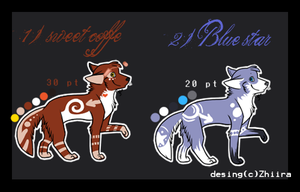 Point adoptables SET1 -CLOSE- by Zhiira