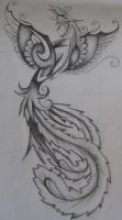 Phoenix female tattoo design by EmmaJaneOGrady