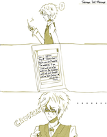 Shizaya: text message by artist-san