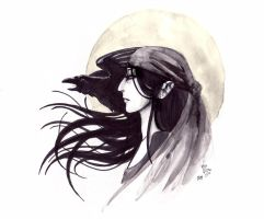 EWE - The Raven Woman by giz-art