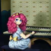 Pinkie can totally play the organ by CosmicPonye