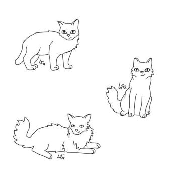 Warrior Cats LineArt for Free! by LeaFaciliter