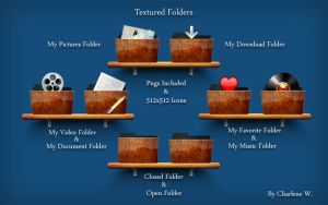 Textured Folders by chamirra