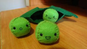 Kawaii Peas in a Pod Plushie 2 by Angel312