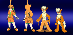 Art Trade: Orange Goo ( Growlithe TF TG AR) by Wolfeenix