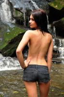 Tara turns from the falls 1 by wildplaces