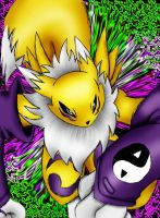 Renamon's attack by NeroNero