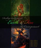 Desktop wallpaper - Earth and Fire by CassiopeiaArt