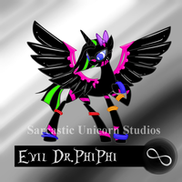 Ponysona: Evil Dr.PhiPhi by SarcasticUnicorn