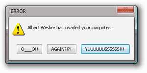 wesker error by Halcyon-of-Time