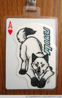 Playing Card Badge: Miku by FlannMoriath