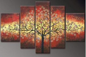 Glowing Red And Yellow Horizontal Tree by ModernArtist123