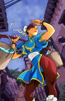 Chun Li by Edwin Huang Colors by Staminaboy