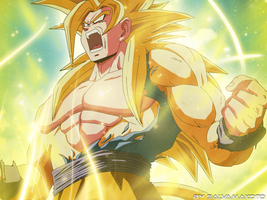GOKU NEW SUPER SAIYAN by salvamakoto