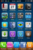 Zorsha theme on iPhone 4 by leonlink91