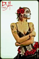 Sugar Skull Pin Up by LaurenWiles