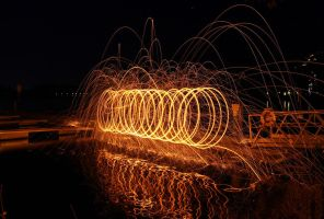 Glowing steel wool in special moments 5 by MT-Photografien