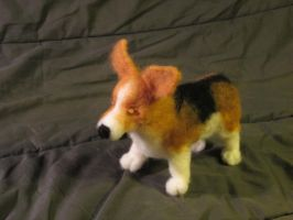 Needlefelt Corgi by shadechristiwolven