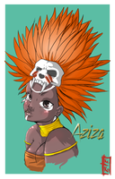 Aziza- Fan art by Kinbarri