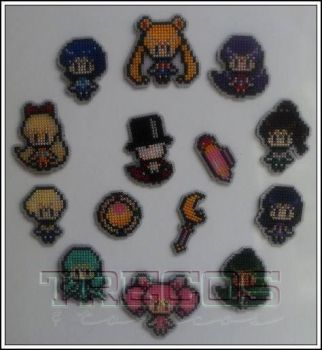 Kit Sailor Moon - Magnets by malukachan