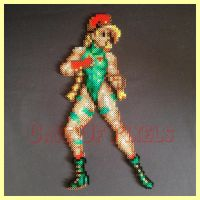 Street Fighter Cammy Perler bead sprite by caveofpixels