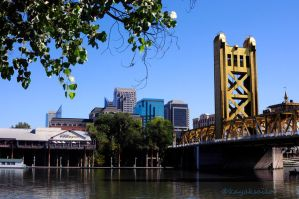 Sacramento CA - River City - Tower Bridge by kayaksailor