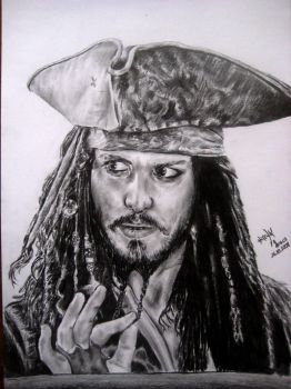 Jack Sparrow ( Johnny Depp ) by HuseyinKaraca