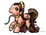 My Little Pony Slave Leia by sarahwilkinson